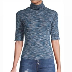 FREE PEOPLE SPACE DYED TURTLENECK TOP SIZE XS NWT